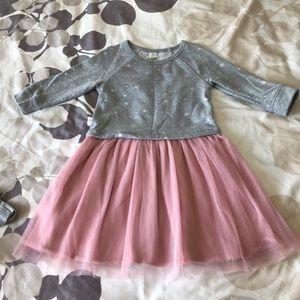 Gap Girls Long Sleeve Dress Size 4 w/Pink Tulle